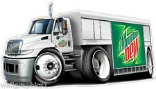Mountain Dew Delivery Truck Wall Graphic Fat Cat Man Cave Room Garage Decor