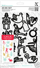 Xcut 12 piece die set Christmas icons Use Xcut sizzix big shot craft machines