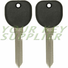 2 New Uncut Transponder Chip Ignition Keys for Cadillac CTS B112-PT