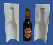 8cm 3D MINIATURE BEER BOTTLE SILICONE MOULD FOR CAKE TOPPERS CHOCOLATE, CLAY ETC