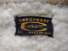 Vintage 70s Carhartt Snagproof Jacket Size 40 Made in USA Sherpa Shearling WIP
