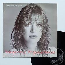 """Vinyle 33T Marianne Faithfull  """"Dangerous acquaintances"""""""