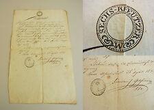 Taufschein ALSERVORSTADT / Alserkirche 1833 über ANONYME, UNEHELICHE GEBURT 1825