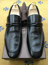Gucci Mens Shoes Black Leather Loafers UK 7.5 US 8.5 EU 41.5 Made in Italy
