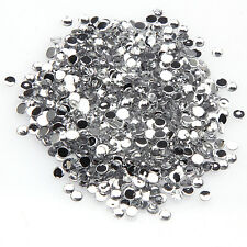 2000pcs 2mm Sparkling Resin Rhinestone Flatback Crystal 14 Facets Gems beads