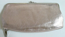 Hobo International Mavis Wallet Clutch Light Pink Shimmer Leather Photo Holder