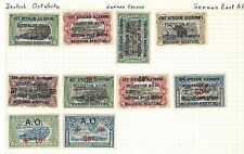 GERMAN EAST AFRICA(BELGIUM OCCUPATION) collertion early stamps on old album page