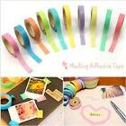 10 Rolls Decorative Washi Rainbow Sticky Paper Masking Adhesive Tape