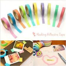 Colorful 10 Rolls Decorative Washi Rainbow Sticky Paper Masking Adhesive Tape