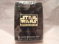 STAR WARS CCG PREMIERE BLACK BORDER SEALED STARTER DECK OF 60 CARDS