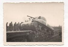 PHOTO ANCIENNE Transport Militaire Soldat Char Guerre Vers 1940 Canon Tank