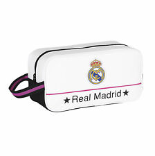 REAL MADRID FC OFFICIAL BLANC SAC À CHAUSSURES ÉCOLE KIT SPORTS TIBIA PAD RMFC