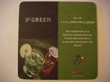 Beer Coaster    2005 Anheuser-Busch Bud E Green ~ Budweiser + Sour Apple Liqueur