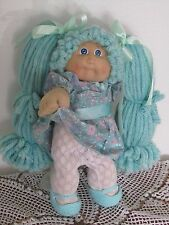 """VINTAGE CABBAGE PATCH DOLL16"""" WITH REROOT  BLUE EYES HEAD MOLD 2"""