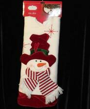 "Snowman Christmas Tree Skirt White & Red 3-D~48""~Trim a Home~NWT"
