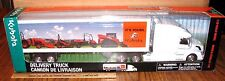 Kubota Semi Delivery Truck Trailer Volvo 1/32 New Ray Tractor Mower Skid Utility