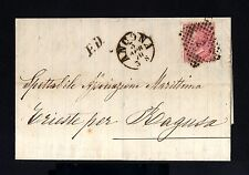 8776-ITALY-OLD COVER LETTER ANCONA to TRIESTE(ragusa) 1870.ITALIA.Lettre.CARTA.