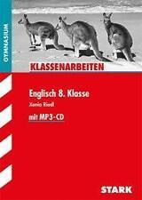 Englisch 8. Klasse Gymnasium Klassenarbeiten Stark Riedl MP3 CD Übungen  wie neu
