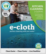 ***New*** E-Cloth Kitchen Polyester/Polyamide Cleaning Cloth 2 pk 10601