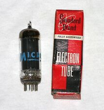 Micro 6CZ5 Electron Vacuum Tube in Standard Box. Black Plate, O Getter. NOS