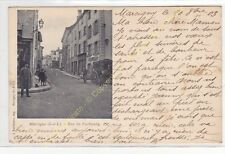 CPA 71110 MARCIGNY rue du Faubourg Atelage Hotel du Lion Edit VUILLAUME ca1904