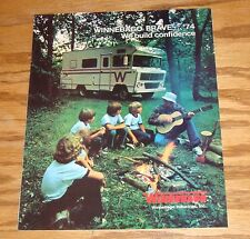 Original 1974 Winnebago Brave Sales Brochure 74 D-19 D-21 D-21T