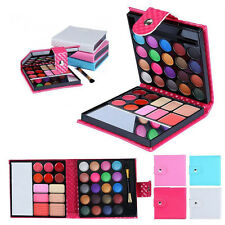 Pink 32 Colors Shimmer Eyeshadow Eye Shadow Palette & Makeup Cosmetic Brush Set