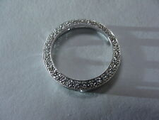DIAMOND CIRCLE  PENDANT - FINE DIAMONDS ! Pave Set