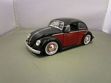 JADA 1/24 DUB CITY BLACK AND RED 1959 VW BEETLE USED NO BOX *READ*