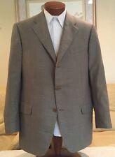 Salvatore Ferragamo Mens Silk Wool Beige Dual Vent 3 Btn Blazer Sz 44 L
