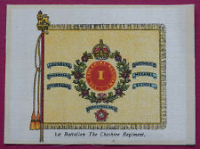 THE CHESHIRE REGIMENT Regimental Colours SILK CARD issued in 1916