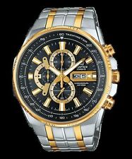 Casio Edifice EFR-549SG-1A Black Dial Gold Plated Stainless Steel Analog Watch