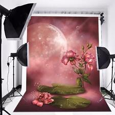 5x7FT Vinyl Pink Lotus Flower Photo Studio Background Props Photography Backdrop