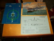 NATO F122 CLASS FRIGATE RADIO & RADAR LEAFLET + DRAWING & ARTISTS IMPRESSION