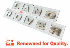 LAND ROVER DEFENDER SILVER 3D BONNET LETTERS LETTERING DISCOVERY 3 4 40mm