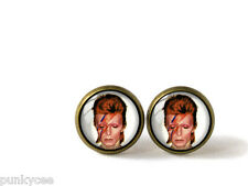 Retro Style Handmade Glass Stud Earrings, David Bowie, A-466