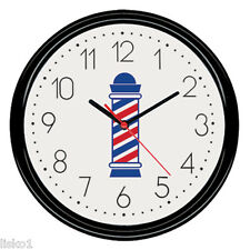 "Scalpmaster #BX9002 Barber Shop Battery operated Wall Clock 9-1/2"" round"