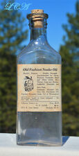 RARE original antique SNAKE OIL bottle w/pic RATTLER RATTLE snake N CAROLINA