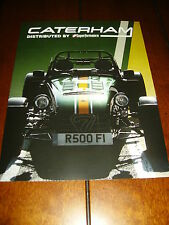 2013 CATERHAM  ***DOUBLE SIDED SALES SHEET / BROCHURE*** LOTUS 7 SEVEN