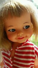 """1966 Ideal Toy Corp. doll 18"""" Miss Giggles googly eyed sound from voice box EUC"""