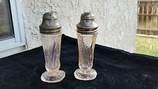 Pink Royal Lace Depression Glass Salt & Pepper Shakers