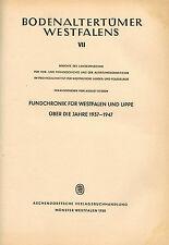 Stieren, Boden-Altertümer Westfalen Lippe, Grabungen Funde Chronik 1937/47, 1950