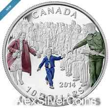 Canada $10 1/2 oz. 99,99% Fine Silver Coloured Coin - Wait for Me, Daddy (2014)