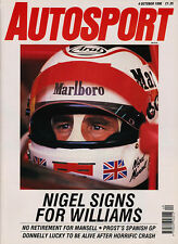Autosport 4 Oct 1990 - Mansell signs for Williams, Spanish Grand Prix, Bathurst