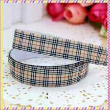 1 meter 22mm 7/8 grossgrain check print ribbon headband diy