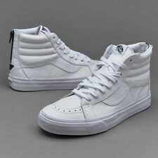 Vans SK8-Hi Reissue Zip Size 11.5 Mens Premium Leather Sneaker True White/Black