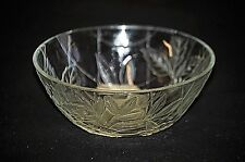 "Classic Style Indonesia 5"" Diameter Frosted Clear Glass Bowl Daisy Pattern"