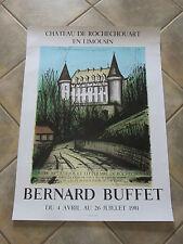 Litho : Affiche exposition du peintre BERNARD BUFFET, de 1981.