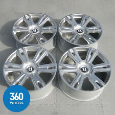 "GENUINE BENTLEY 21"" 6 TWIN SPOKE ALLOY WHEELS CONTINENTAL GT GTC  FLYING SPUR"