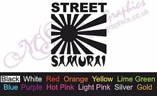 * STREET SAMURAI * Car Decal, Vinyl, Funny, Drift Sticker, JDM Rising Sun
